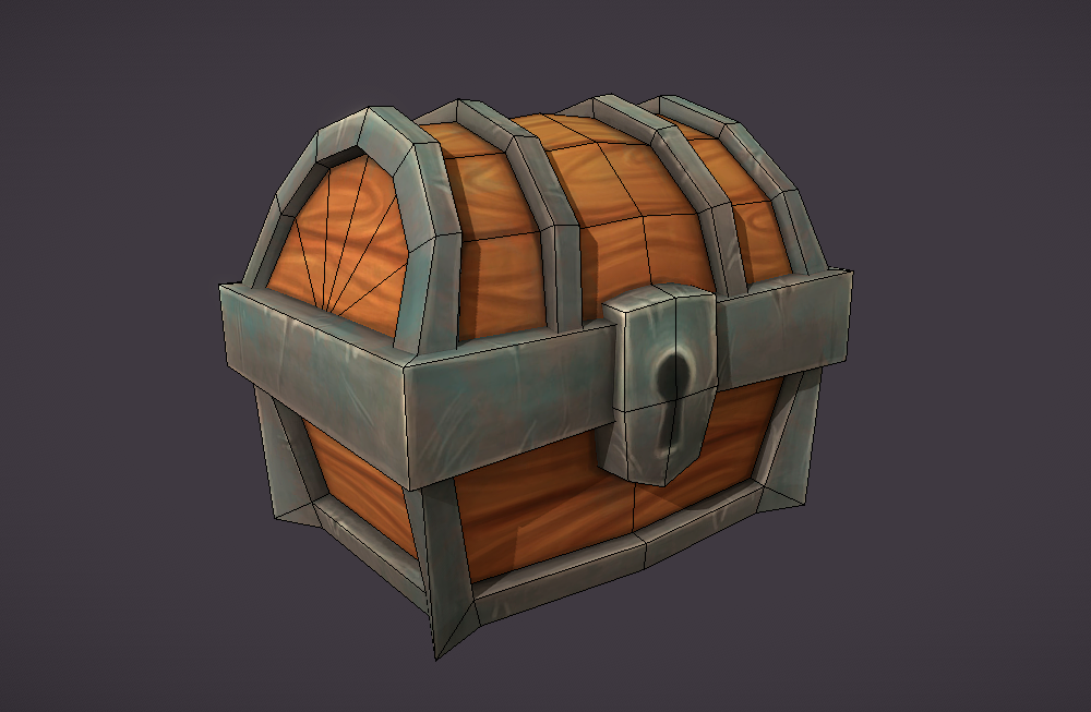 low-poly-treasure-chest低多边形宝箱手绘模型下载插图(1)